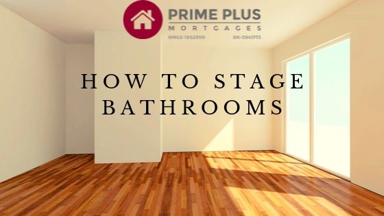 how to stage a bathroom