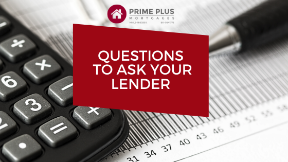 questions to ask your lender about real estate finance and investments