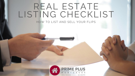 real estate listing checklist